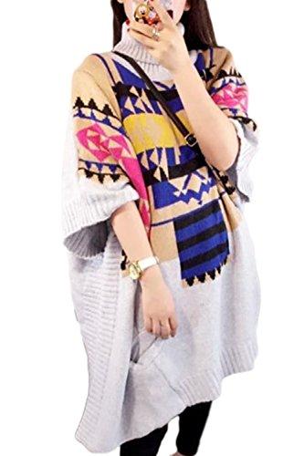 Les Femmes Freesize Mobiles Haut Du Cou Pull Pull Tricoté.