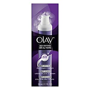 Olay Age Defying 2-In-1 Anti-Wrinkle Day Cream + Serum, 1.7 Fl Oz