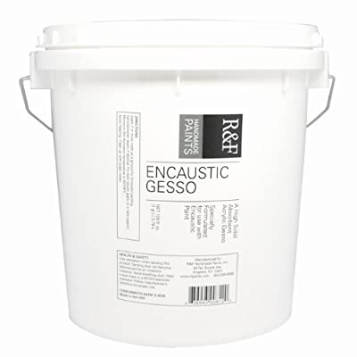 R&F Handmade Paints Encaustic Gesso, Gallon Size Tub for use With Encaustic Paints and Mediums