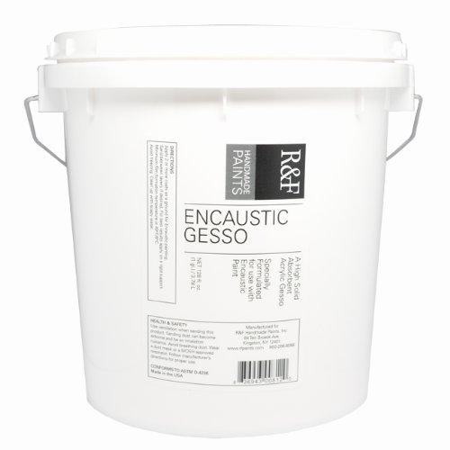 R&F Handmade Paints Encaustic Gesso, Gallon Size Tub for use With Encaustic Paints and Mediums by R&F Handmade Paints