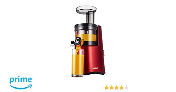 Hurom H-AA - Exprimidor (Exprimidor eléctrico de tomates, Rojo, 43 RPM, 1,4 m, Botones, 150 W): Amazon.es: Hogar