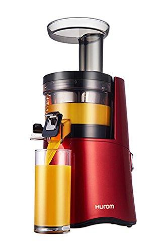 Hurom H-AA - Exprimidor (Exprimidor eléctrico de tomates, Rojo, 43 RPM