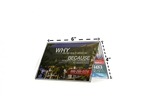 Marketing Holders Sign Holder A Frame Side Load Two Sided Table Tent Clear Acrylic Display 6
