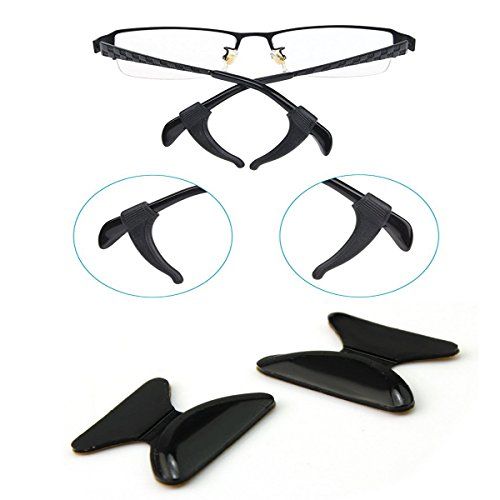 VIEEL 8 Pairs Silicone Anti-Slip Nose Pads and Antiskid Ear Hooks for Eyeglasses/Sunglasses/Glasses Spectacles - Frames Plastic For Nose Grips