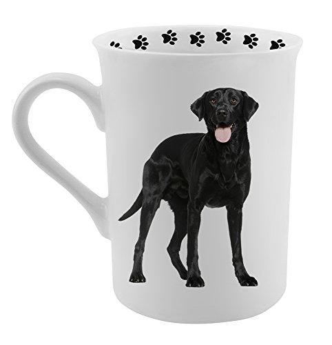 Black Labrador Porcelain - Dimension 9 Black Labrador Coffee Mug, White
