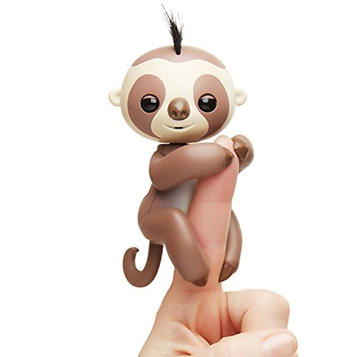 Fingerlings Baby Sloth - Kingsley (Brown) -  Interactive Baby Pet - by WowWee