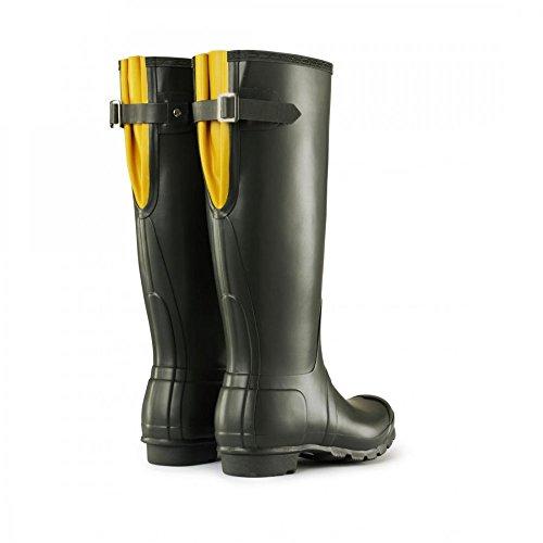 Hunters Original Tall Adjustable W24893 Unisex-Erwachsene Stiefel Mehrfarbig (dark olive / yellow)