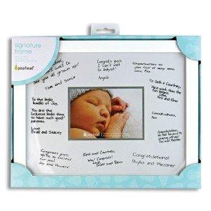 Amazoncom New Baby Keepsake Frame Signature Frame Holds 3 12