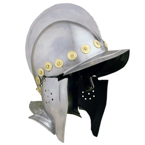 Armor Venue Burgonet Open Face With Liner & Cheek Piece Metallic - One Size Armour