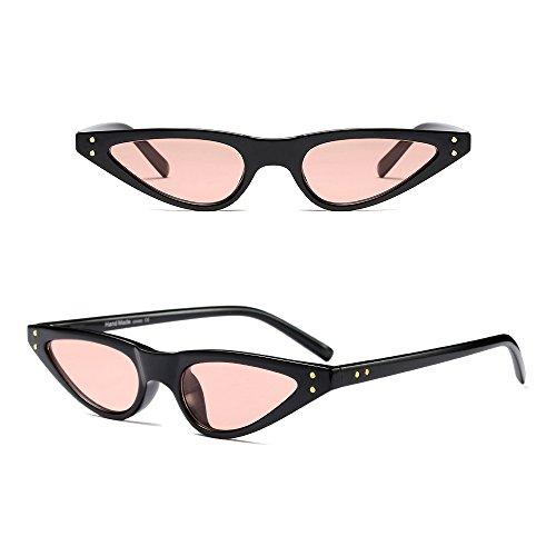 Rosa gafas Negro Gafas Clásico Retro Moda de Triángulo BOZEVON Mujer Sol v4xwqZFH