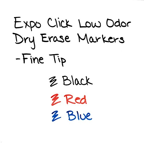 EXPO Click Low-Odor Dry Erase Retractable Markers, Fine Point, Black, 12-Count Photo #4