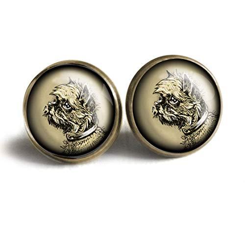 Brussels Griffon Stud Earrings