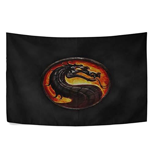 - MAXM Mortal Kombat Dragon Circle Smoke Fire Wall Hanging Tapestry Bedroom Living Room Beach Doorway Curtain Christmas Thanksgiving Day Decoration 60 X 40 Inch