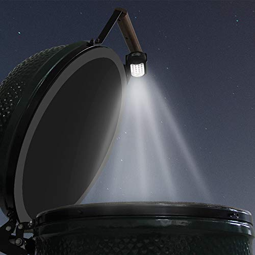 BBQ Grill Light LED for Big Green Egg,Big Green Egg Accessories Grill Outdoor LED Barbecue Lamp for Big Green Egg Models (9 handle) with 24 Ultra-Bright LED Lights Battery Powered- Right Handle
