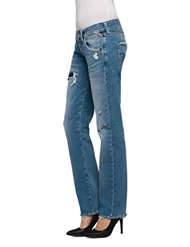 Dritto Donna 9 Blu Newswenfani blue Jeans Replay Denim 1Evn7Fqww
