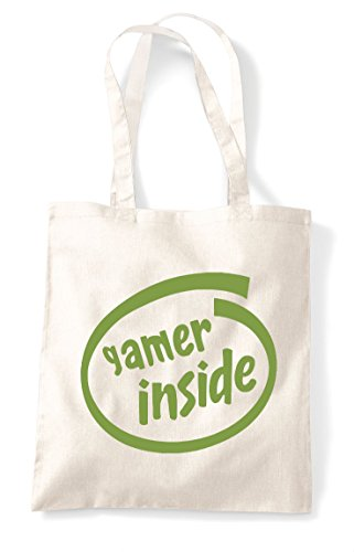 Tote Statement Gaming Bag Inside Shopper Parody Natural Gamer t1Iqa
