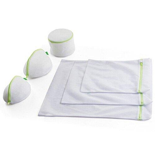 Ioven Wäschenetz Waschbeutel mit Reißverschluss 6er-Set (S * 1 M * 1 L * 1 BH Waschbeutel * 3)