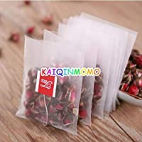 100pcs/lot New Nylon Empty Tea Infuser Bag Herb Spice Filter Strainer Bags with String Household Teabags 5 * 6cm 5.6…