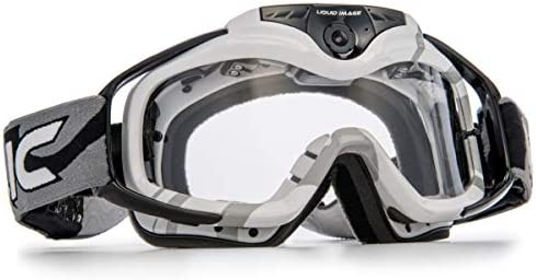 Liquid Image 369 W Torque Series Off-Road Goggle Cam HD 1080p with Wi-Fi Video Camera with 0.5-Inch LCD White
