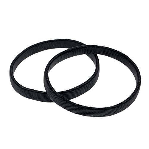 Chen 2 Pcs Solid Color Elastic Bracelet Shirt Sleeve Holders Elasticated Metal Armbands (Black) by Chen (Image #3)