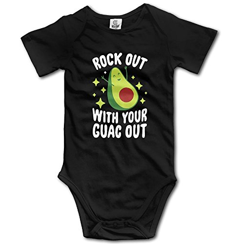 Food Onesie (Rock Out With Your Guac Out Short Sleeve Baby's Bodysuit)