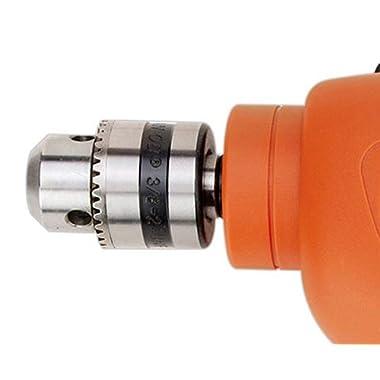 BLACK+DECKER HD455KA 10mm 550 Watt Impact Drill Kit, Engineered Plastic (Orange, 41-Pieces) 11