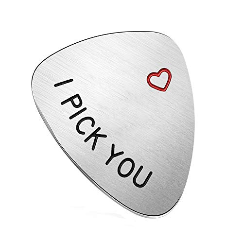 Husband Boyfriend Gifts - Guitar Picks Gifts for For Guitarist Musician, Valentine's Day Gift for Him, Wedding Anniversary Gift for Men (Style - I Pick You) (Best Cheap Valentines Day Gifts For Him)