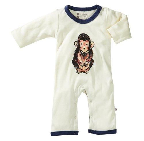 Babysoy Baby Girls' Janey Baby One Piece Bodysuit, Chimp, 6 12 -