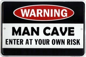 Man Cave Enter At Your Own Risk Metal Door Sign (Best Small Man Caves)