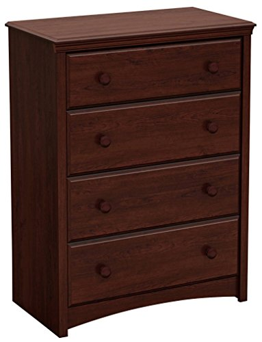 South Shore 3246034 Sweet Morning Collection 4-Drawer Chest, Royal Cherry