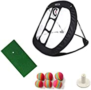 MIKODA Pop Up Golf Chipping Nets Indoor Outdoor Backyard Office Practice Great Gifts for Men Dad Mom Husband W
