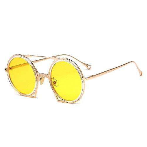 sol gafas Gafas metal redondas hombres Aoligei señora gafas de de de C sol Retro de zdxfaC0