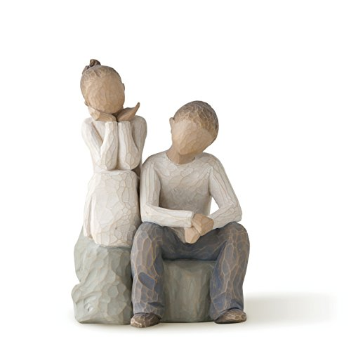 (Willow Tree Brother and Sister, sculpted hand-painted figure)