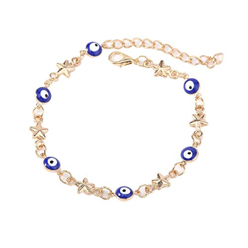 Shining Star Turkey - Bracelet Unisex Turkey Eyes Five-pointed Star Fashion Friendship Bracelet Jewelry