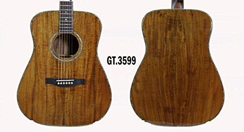 laid Solid Acacia PQ Koa Acoustic Handmade Guitar 3599 (Inlaid Mop)