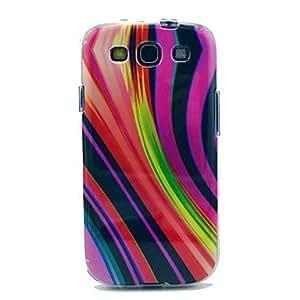 WEV Chromatic Stripe Pattern TPU IMD Soft Case for Samsung Galaxy S3 I9300