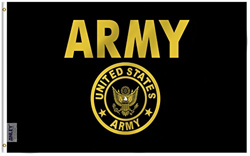 Anley Fly Breeze 3x5 Foot US Army Gold Crest Flag - Vivid Co