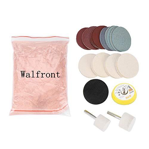 Glass Polishing Kit Scratch Removal Set, 34 Pcs Deep Scratch Remover Ceric Dioxide Abrasive Discs Polish Pad Felt for Windscreen and ()