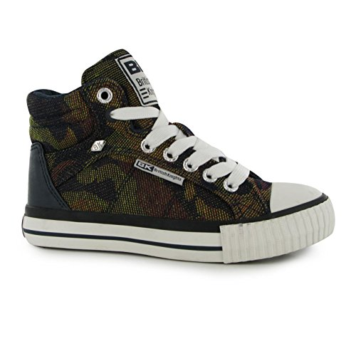 British Knights Ninos Dee Mid Hi Top Canvas Zapatos Cordones Zapatillas Chicas
