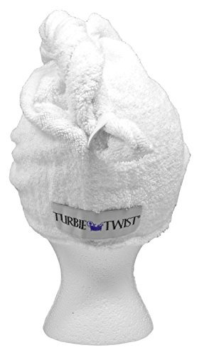 Turbie Twist Super-Absorbent Hair Towel (White) [Health and Beauty] Quality Deals