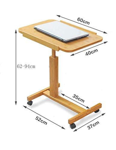 PLLP Mesa de Mesa Plegable de bambú Puede Levantar el Escritorio portátil Simple Mesa de Trabajo portátil de Escritorio