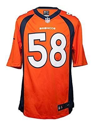 Nike Men's Denver Broncos Vonnie B'Vsean Miller Jersey - Orange