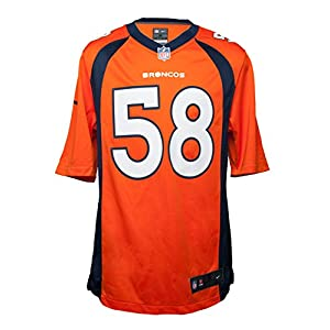 NIKE Men's Denver Broncos Vonnie B'Vsean Miller Jersey Orange