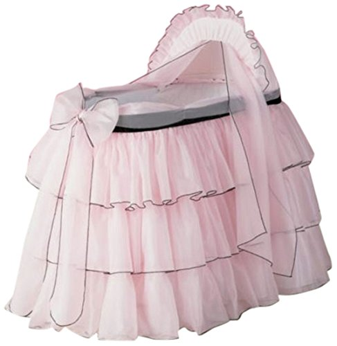 Baby Doll Bedding  Sherbert Bassinet Set, Pink by BabyDoll Bedding