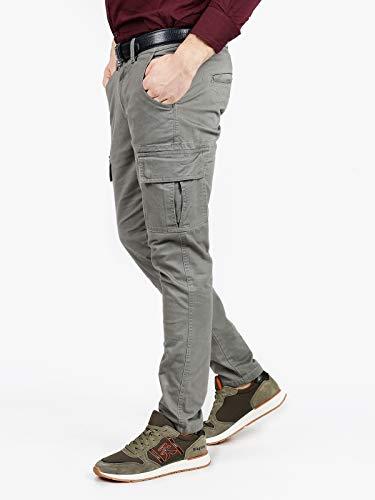 Uomo Guy Cargo Grigio Pantaloni Cotone Di grSIaxAr