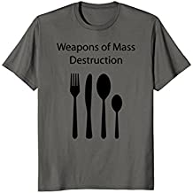 Funny Weapons of Mass Destruction Cutlery T-Shirt