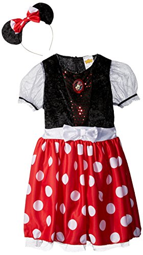 Disguise Disney Mickey Mouse Minnie Mouse Classic Girls Costume, Small/4-6x (Halloween Costume Disney Princess)