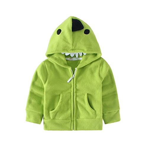 Mud Kingdom Adorable Baby Boys Fleece Animal Costume Hoodies 12M Green (Dinasaur Costumes)