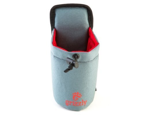Grizzly SNAKE RIVER - GRAY Hiking, Walking, Dog Walking Adjustable Water Bottle Holder. Use for Birding, Photography, Canoeing, Archery, ATV, Camping, Attach to Belts or Grizzly Dakota Utility (Cordura Snake)