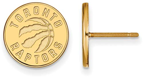 14K Yellow Gold NBA Toronto Raptors Small Post Earrings by LogoArt